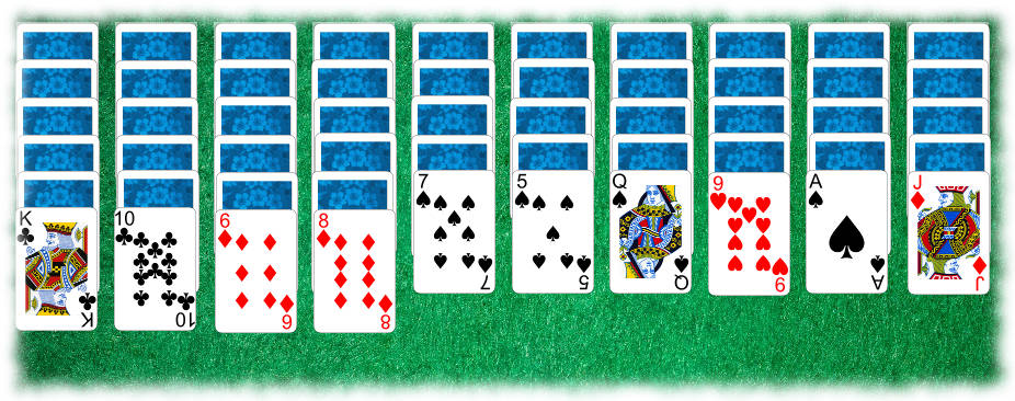 spider solitaire 2 suits how to play