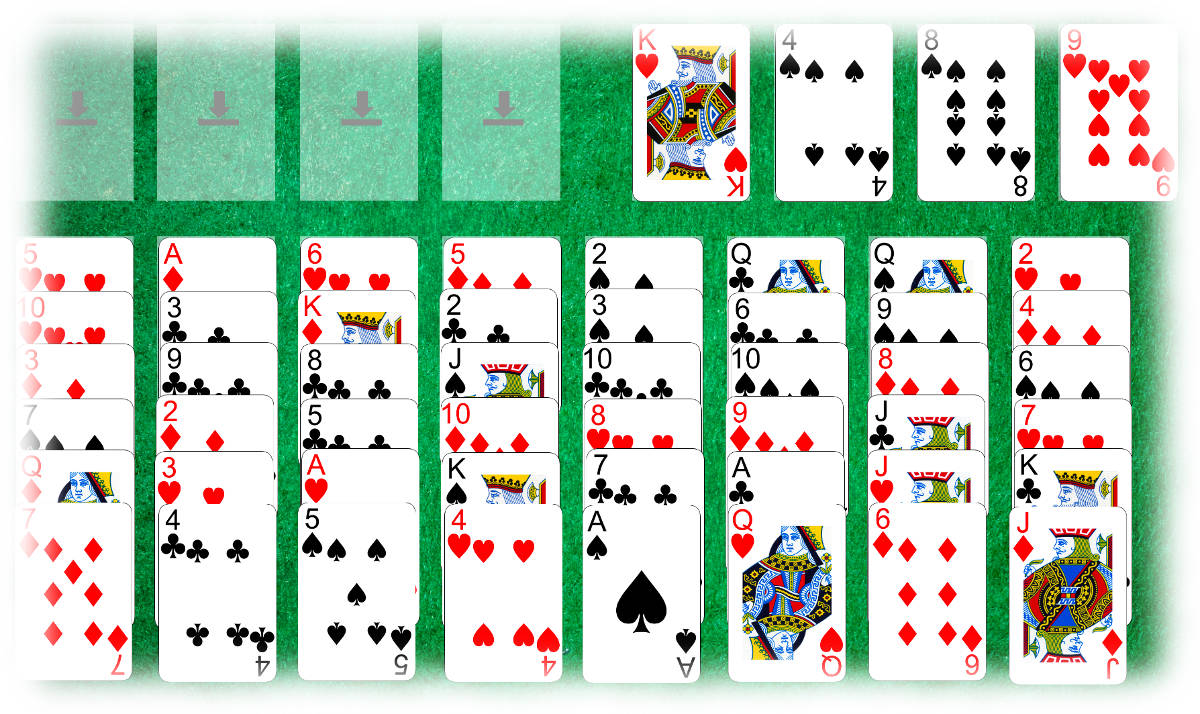 Initial Napoleon in St Helena layout (Solitaire Whizz for iPad and macOS)